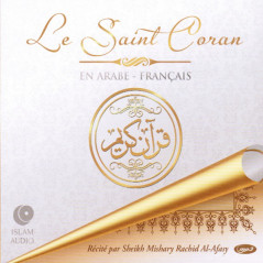 Cd-Mp3: Le Saint Coran Arabe-Français, Coffret 3 CD, Lecture Al-Afasy