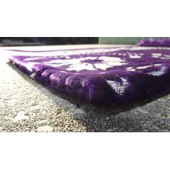 Tapis de Prière - motif fleurs - Fond Violet indigo