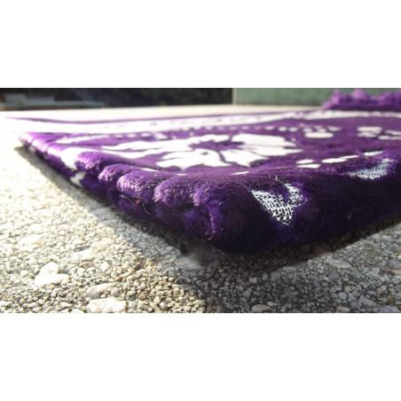 Tapis de Prière - motif jardin - Fond Violet indigo