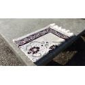Tapis de Prière en Velours, couleur sable -motif maron Caramelle