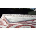 Tapis de Prière en Velours, couleur sable -motif rose Saumon