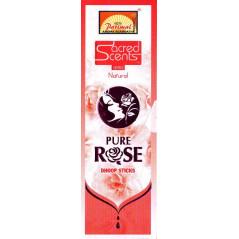 Encens indien naturel Rose pure, 18 bâtonnets (50g), de Parimal