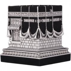 Bibelot Kaaba: Objet de décoration Maquette de la Sainte Kaaba, Modèle argenté.
