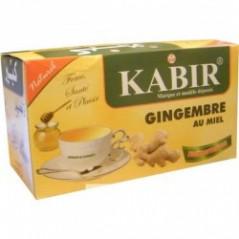 Infusion naturelle au gingembre et au miel, de la Marque KABIR – Boite de 12 sachets d'infusion instantanée
