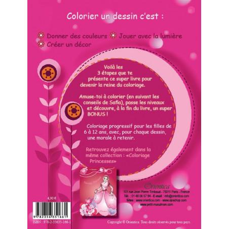 J'apprends le Coloriage , Pour les petites musulmanes (6-12 ans), Bilingue (Français - Arabe)