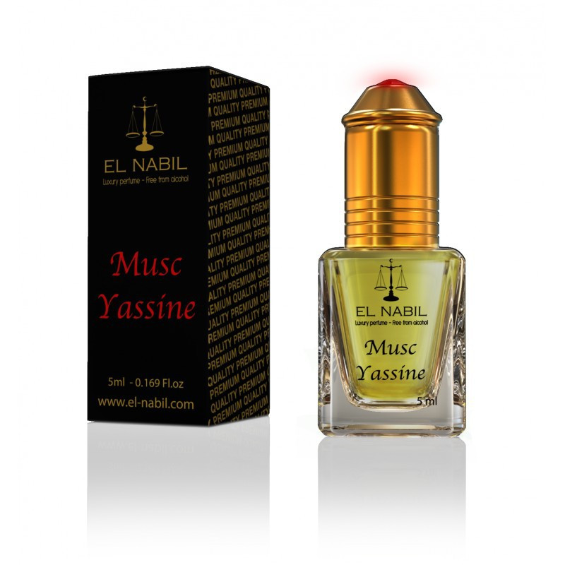 El Nabil Musc Yassine– Parfum concentré sans alcool pour homme- Flacon roll-on de 5 ml