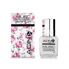 ADN MUSC - Musc Warda – Parfum concentré sans alcool pour femme- Flacon roll-on de 5 ml