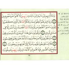 تفسير و بيان 12  سورة + أدعية و أذكار -Tafsir wa bayan 12 versets du Coran + invocations, format (12x17 cm), Version Arabe