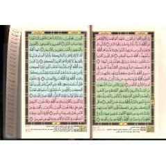 القرآن  الكريم ، التقسيم الموضوعي المفهرس - Le saint coran (Hafs), avec index thématique, Format moyen, Bleu (Version Arabe)