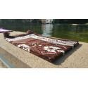 Tapis de Prière - motif jardin - Fond Marron Saumon