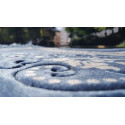 Tapis de Prière - motif jardin - Fond Bleu ardoise