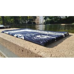 Tapis de Prière - motif jardin - Fond Noir d'ivoire