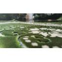 Tapis de Prière - motif jardin - Fond Violet Gris de Parme