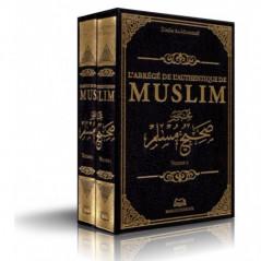 L'abrégé de l'authentique de MUSLIM (مختصر صحيح مسلم) de l'imam Al-Mundhiri,  2 Volumes, Bilingue (Français- Arabe vocalisé)