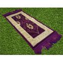 Tapis de Prière pour Enfant - COULEUR VIOLET - incrustation filaments argentés - format 75X35 cm