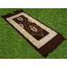 Tapis de Prière pour Enfant - COULEUR MARRON - incrustation filaments argentés - format 75X35 cm