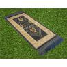 Tapis de Prière pour Enfant - COULEUR BLEU ARDOISE - incrustation filaments argentés - format 75X35 cm