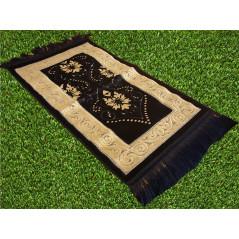 Tapis de Prière pour Enfant - COULEUR BLEU NUIT - incrustation filaments argentés - format 75X35 cm