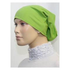 Bandeau (Bonnet) tube- Sous hijab (Vert pomme uni)