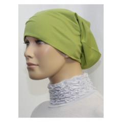 Bandeau (Bonnet) tube- Sous hijab (Vert pistache uni)