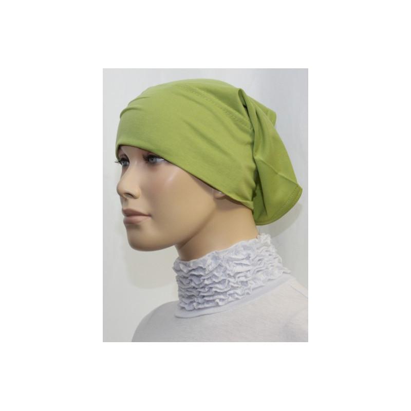 Bandeau tube sous hijab (Vert pistache uni)
