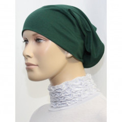 Bandeau (Bonnet) tube- Sous hijab (Vert anglais uni)