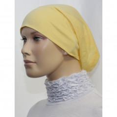 Bandeau (Bonnet) tube- Sous hijab (Jaune poussin uni)