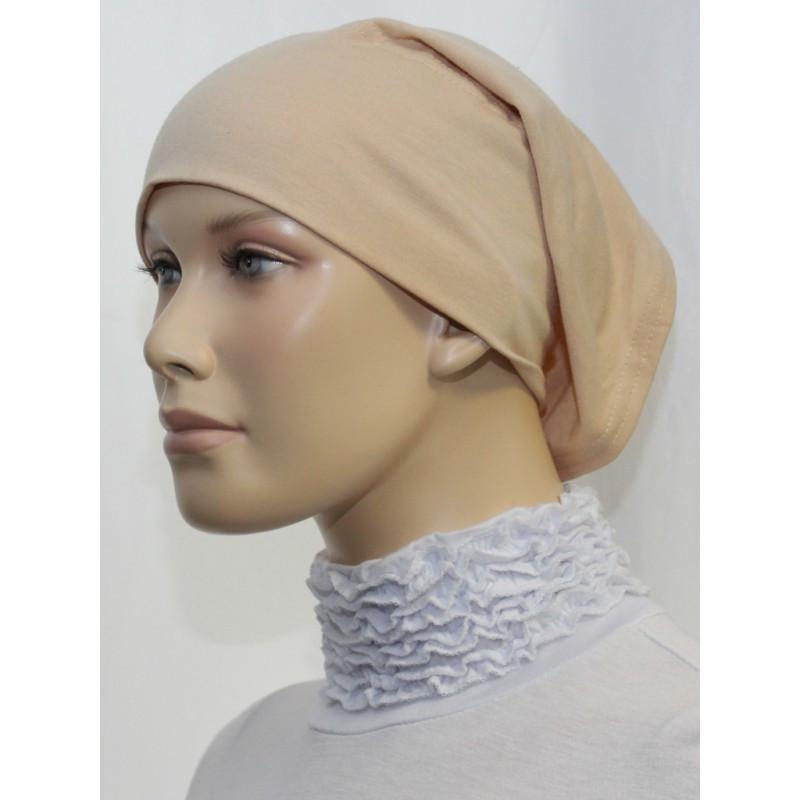 Bandeau tube sous hijab (Beige uni)