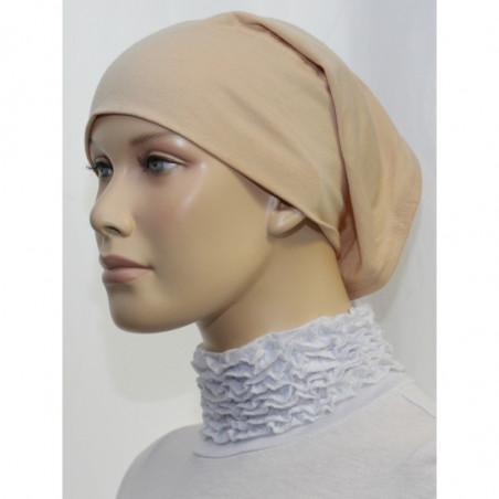 Bandeau (Bonnet) tube- Sous hijab (Beige uni)