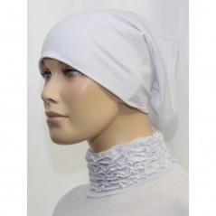 Bandeau (Bonnet) tube- Sous hijab (Blanc uni)