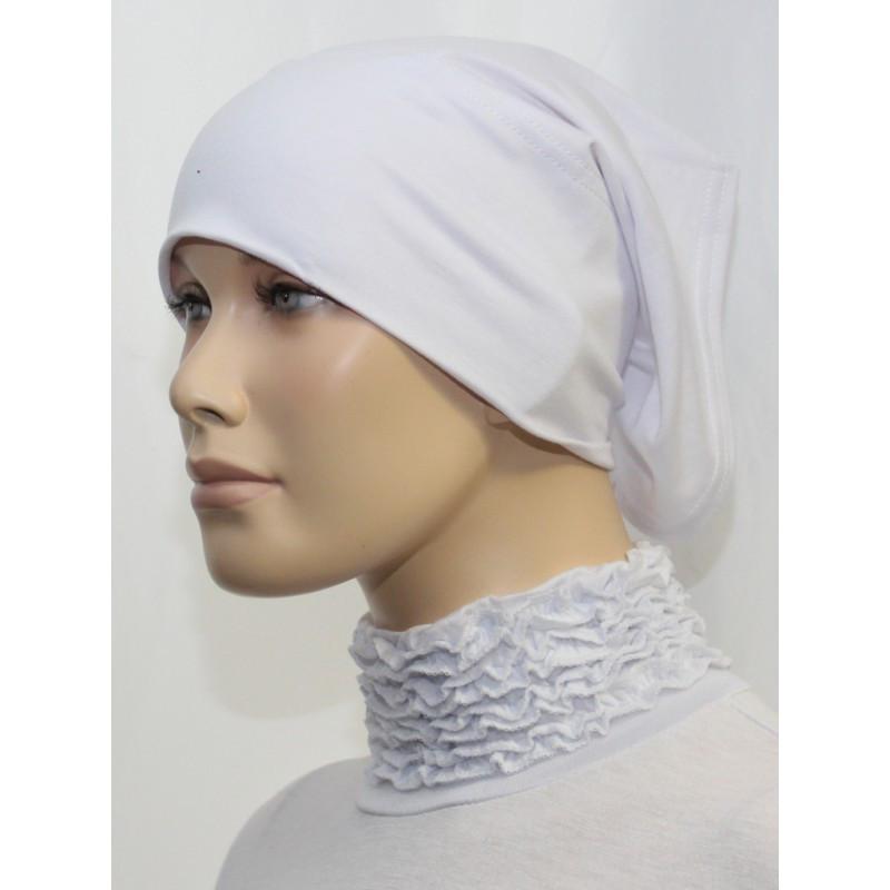 Bandeau tube sous hijab (Blanc uni)