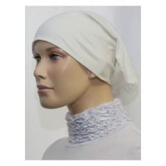 Bandeau (Bonnet) tube- Sous hijab (Blanc cassé uni)