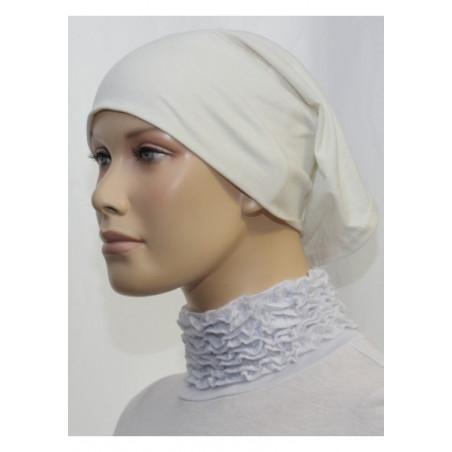 Bandeau tube sous hijab (Blanc cassé uni)