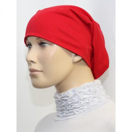 Bandeau (Bonnet) tube- Sous hijab (Rouge uni)