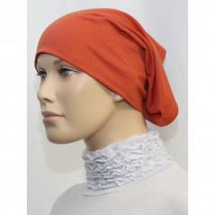 Bandeau (Bonnet) tube- Sous hijab (Terracotta uni)