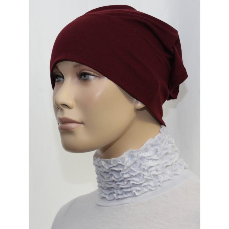 Bandeau tube sous hijab (Rouge bordeaux  uni)