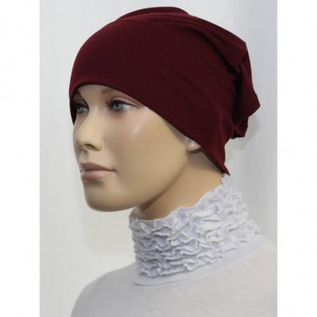 Bandeau (Bonnet) tube- Sous hijab (Rouge bordeaux uni)