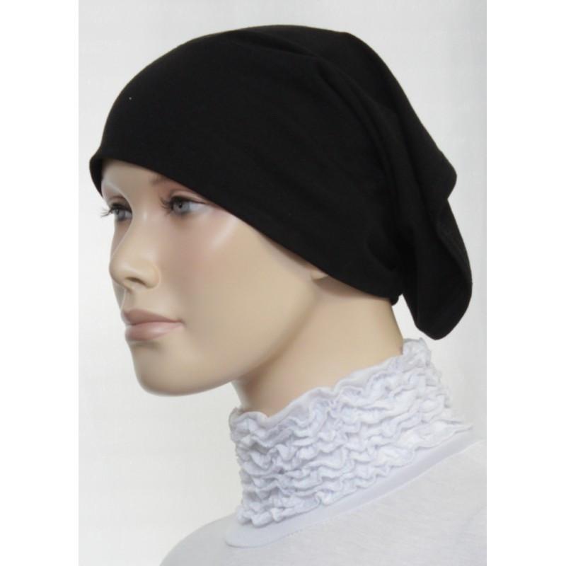 Bandeau tube sous hijab (Noir bordeaux  uni)