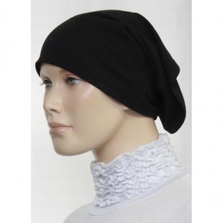 Bandeau (Bonnet) tube- Sous hijab (Noir uni)