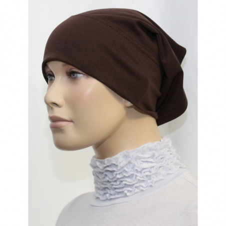 Bandeau (Bonnet) tube- Sous hijab (Marron uni)