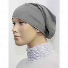 Bandeau (Bonnet) tube- Sous hijab (Gris clair uni)
