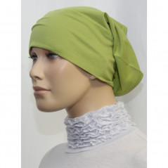 Bandeau (Bonnet) tube- Sous hijab (Vert kaki uni)