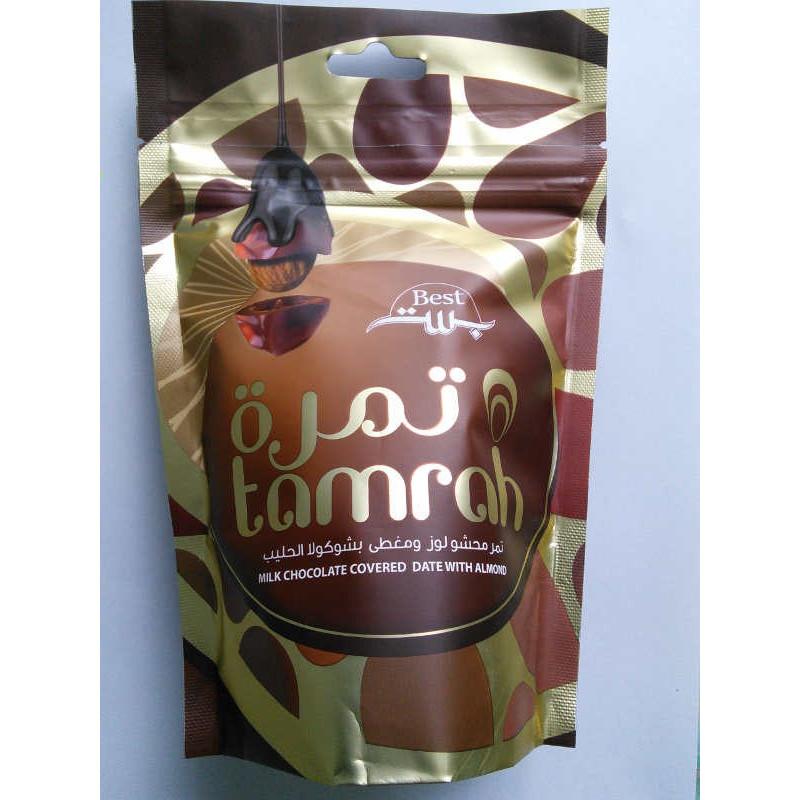 Tamrah - Dattes aux amandes enrobées de Chocolat au lait  (80 g)