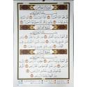 Tableau pédagogique cours de tajwid (format A1) 60 x 84 CM