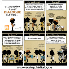 DIALOGUE 1 d'après Allam Bande dessinée participative