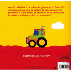 Coloriage  - Les Transports-  Arabe-Français - 3-6 ans