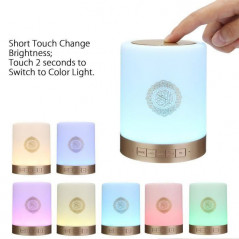 Coranique Touch Lamp, Haut-Parleur, Bluetooth,télécommande,MP3 Player