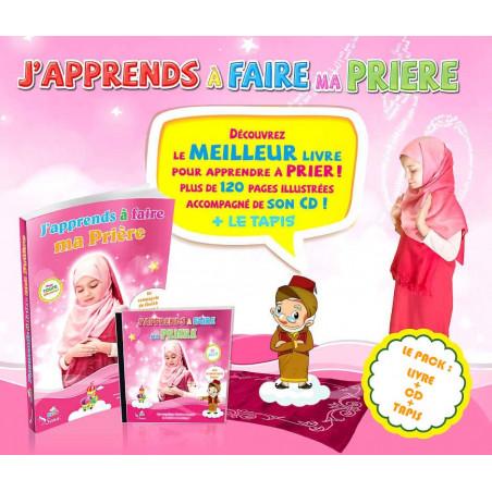 """Pack """"J'apprends à faire ma Prière"""" pour fille ( Livre + CD + Tapis )"""