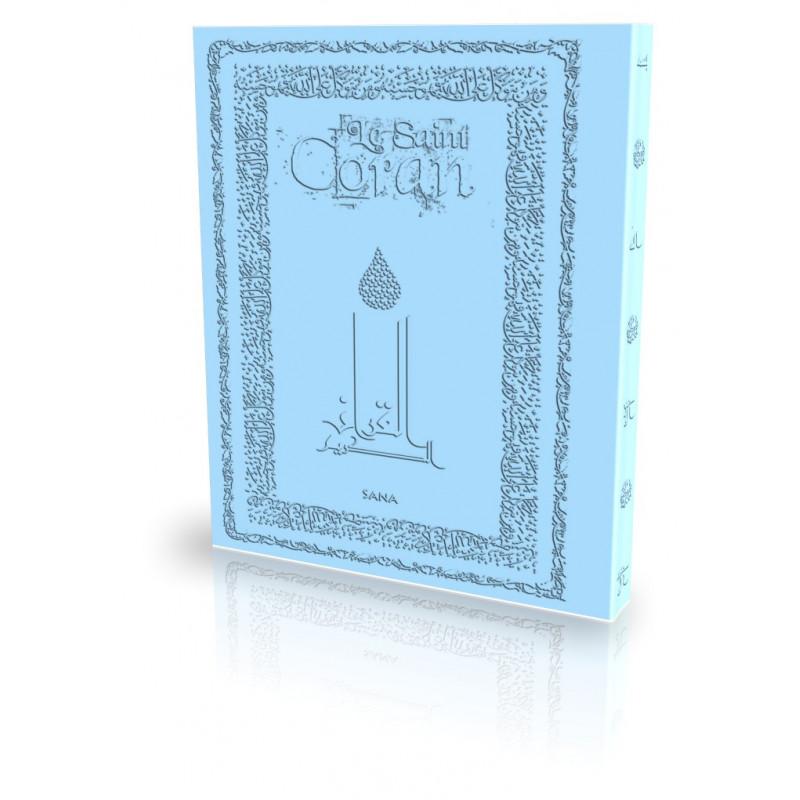 Le Coran - Traduit et annoté par Abdallah Penot - COUV DAIM SOUPLE - COL BLEU CIEL
