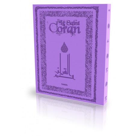 Le Coran - Traduit et annoté par Abdallah Penot - COUV DAIM SOUPLE - COL MAUVE